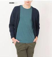 2014 Mens brand shirt ninth sleeve heattech undershirt camisas black blue grey wine red navy Free shipping