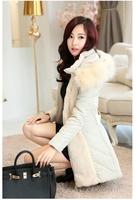 duck down jacket women 2015 new Korean Women Slim high-end luxury fur collar Nagymaros long down jacket coat detachable cap