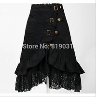 S-XL Wholesale clothing women party skirt lace black steampunk street clubwear gypsy unique design drop ship plus size fashions