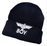 Free shipping,1pcs,2014 autumn and winter warm hats,fashion knitted caps,black embroidery letters men and women hat