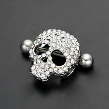 1pair/lot hot sale sexy nipple rings skull jewelry nipple rings jewelry cheap body jewelry from china nipple piercing fashion