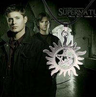 Supernatural Dean Necklace Geometric Cutouts Pentagram Necklace