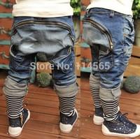 SK022 Free Shipping Retail Kids Jeans Boys Trousers 2014 Spring New Design Children Harem Pants Boys Pant Fashion Kids Wears