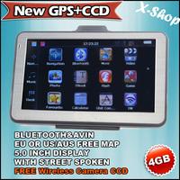 X-SHOP New GPS+CCD Gps navigator 5 inch Bluetooth+128MB RAM+4GB MAP+Wireless camera,MTK,Vehicle GPS,ROM 4G,Touch Screen, Mp3/Mp4