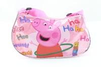 Frozen Moon crystal powder pink pig piggy bag Pepe girls schoolbag