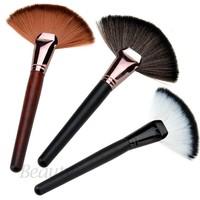 Wood Handle Face Care Foundation Powder Facial Cosmetic Blusher Brushes Makeup Tools Basic Brush SV05 SV012609