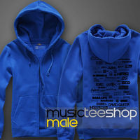 2014 Autumn & Winter Fashion Fleece Hoodie Jacket Top DJ Super-star Logo Wall Hot-selling Freeshipping
