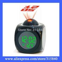 1pc/Lot New 2014 Projection Aralm Clock Digital LED Despertador With Voice Broadcast  -- CLK26 PA44 Wholesale