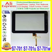 For HuaWei MediaPad 7 Youth S7-701 S7-701u S7-701w Touch Screen Digitizer Glass Lens Black handwriting screen Repair Parts
