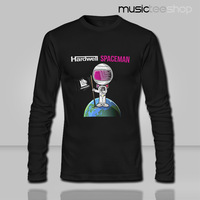 2014 lycra elastic self-cultivation autumn fashion pattern Hardwell Spaceman astronauts long sleeved T-shirt