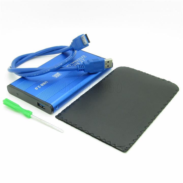 "Blue USB 3.0 to 2.5"" inch SATA External HDD Hard Drive Disk Enclosure Case(China (Mainland))"