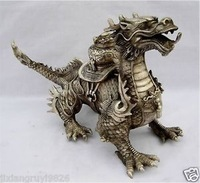 crafts Collectibles Huge Tibetan Silver luck Dragon Statue 30*19*10cm silver Gift Antique Copper Bronze