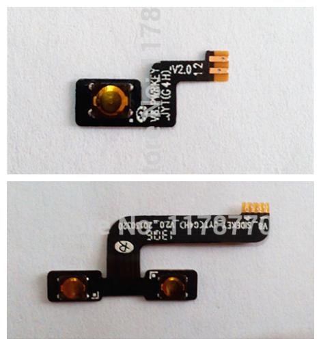 Novo poder Original on / off + volume para cima / baixo botão flex cable para JIAYU G4 G4T G4C G4S FPC botão celular grátis frete(China (Mainland))