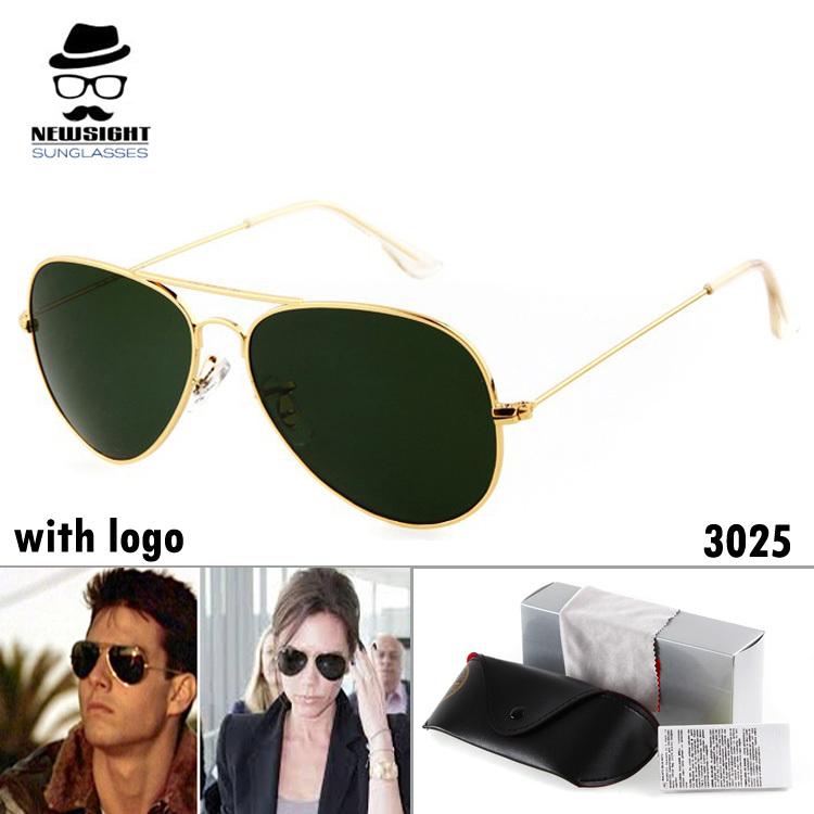 rb 3025 Sunglasses Men rb Aviator Brand Designer Sun Glasses Women with Original Box High Quality oculos de sol Masculino(China (Mainland))