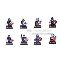 New Toy  Superheroes  8pcs Captain America set  Minifigure Building Blocks Brick Toy  Compatible With Lego