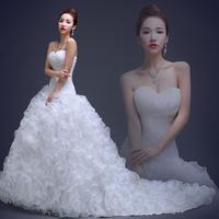 2014 romantic sweetheart wedding gown featuring rich ruffles on skirt vestido de novia brides dress ztc21
