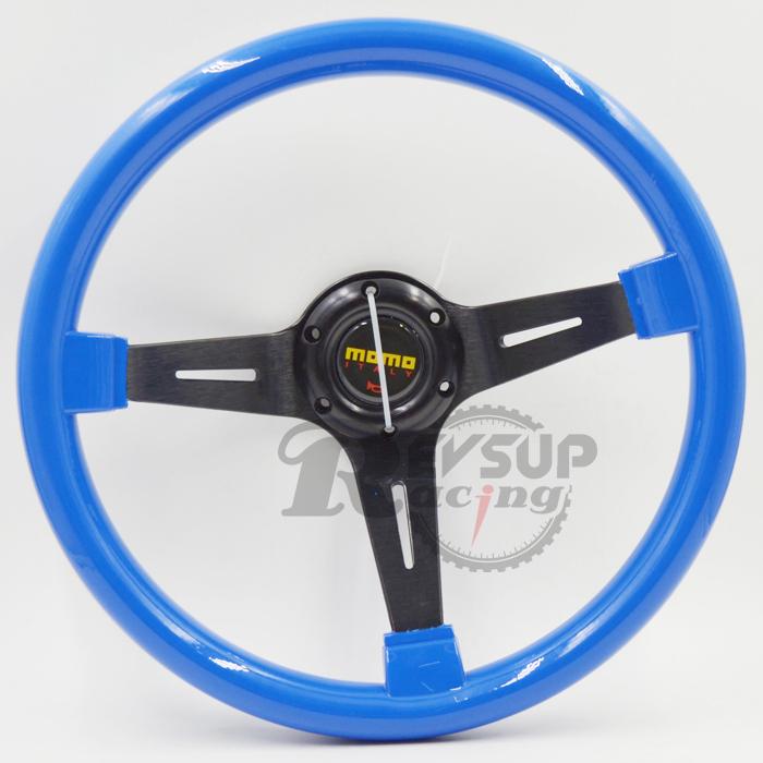350mm 14inch Deep Dish Blue ABS MOMO Steering Wheel(China (Mainland))