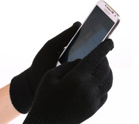 New autumn and winter warm thick wool cashmere Korean touch screen gloves