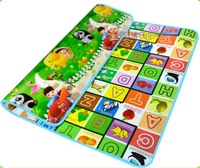 Thick Baby Play Mat 1.8*1.5Meters Kids Crawling Play Educational Safety Mats Picnic Carpet Climbing Blanket Letters and Animals
