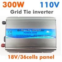 300W Grid Tie Inverter MPPT function,Pure Sine wave 110Vac output,18V 36cells input,Micro on grid tie inverter 10.8-28VDC MPPT