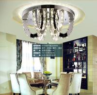 Modern silver LED k9 crystal Ceiling Lights bedroom restaurant LED lamps/ crystal Ceiling Lights  lighting, LED circular lamp
