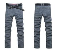 Plus-size mens winter pants men's Linen Pants mens Casual Trousers without belt