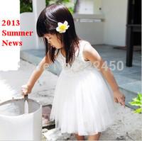 Retails 1PC(90-125cm)Children Kids Baby Girl's Ball down Dresses for Summer ,Rose Flower princess dress for girls, in stock