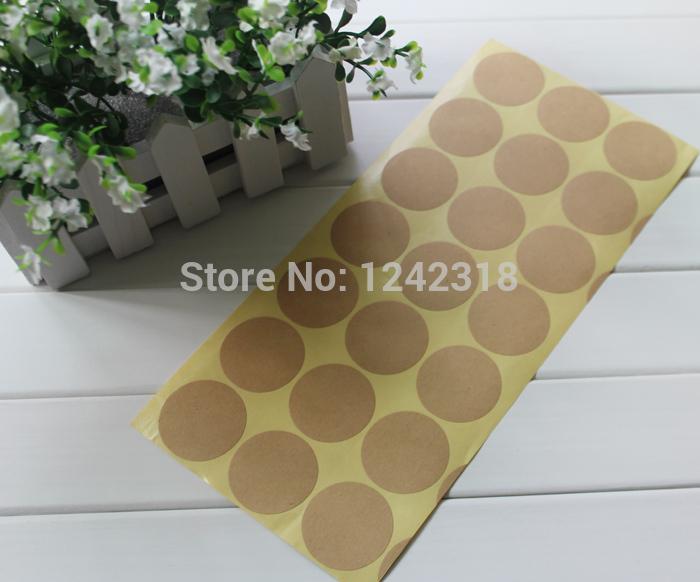 Blank Sticky Paper Blank Brown Kraft Paper