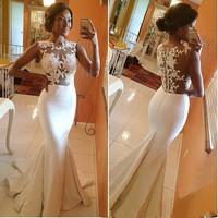 Vestidos de fiesta, 2015 Women fashion white dress, flower lace dress, original dress free shipping