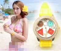 casual quartz watch Lady sports watches women luxury brand wristwatches rubber silicone women watch M8127 relogio masculino