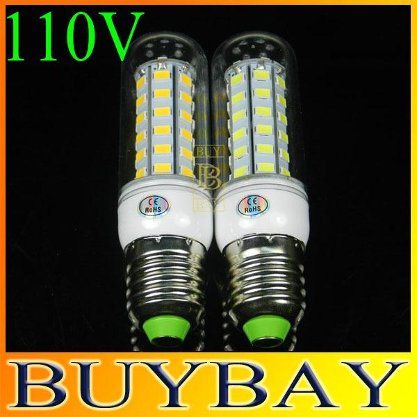 Nuovo anno 110v e27 56 led smd5730 lampadina led di mais, e27 20w 5730 bianco caldo/bianco lampada, smd 5730 lampadario ha condotto la luce