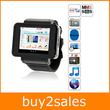 Free Shipping Popular Wearable Devices Smart Watch Phone Partner Quad Band FM MP3 Bluetooth Smart Watch