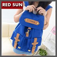 Fashion preppy student school bag ,vintage pocket women's backpack 4 colors canvas outdoor men's backpack mochila free shipping