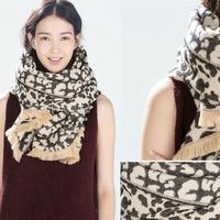 Women Shawl Wrap Cape Oversized Soft Leopard print Plaid Blanket Scarf S40
