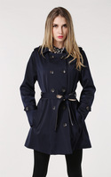 2014 autumn and winter fashion big code brand women's fashion splicing double breasted coat    wwt141076