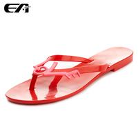 ws18 women jelly wedge shoes melissa female flat heel flip flops beach slippers female flat flip women sandals