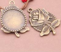 10pcs Pendant Trays,bezel tray,30mm Antiqued Bronze Brass Cabochon Setting Pendant Trays Blanks