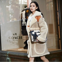 High Quality  Winter angelababy berber fleece women one piece fur overcoat female clothing outerwear