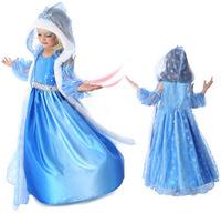 2014 Hot Baby Dress girls Frozen Anna Elsa coronation party princess dresses halloween costume,Christmas Winter Kids clothing