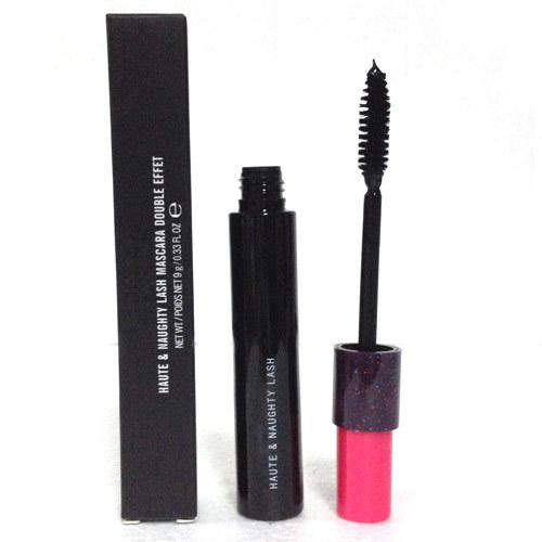 1 PCS Hot Black Mascara Curling & Thick Double Brush Head Mascara Brand Makeup Haute Naughty Lash Cosmetics(China (Mainland))