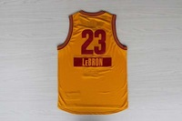 2014 -15 christmas day Cleveland #23 LEBRON JAMES Men's basketball jersey yellow
