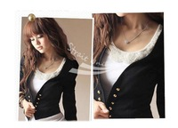 2013 NEW elegant fashion design OL suit style long sleeve ladies short jacket small coat, ladies blazer