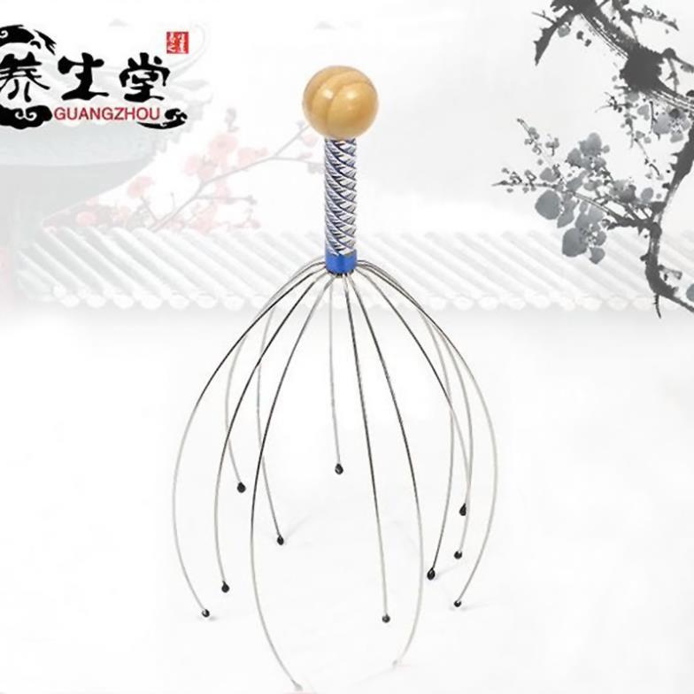 Family Head Neck Scalp Equipment Stress Relax Massage Massager Relax # EC028(China (Mainland))