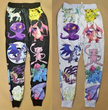 2014 new fashion men/women sport joggers pants 3D print cartoon pokemon pikachu skinny jogging sweatpants hip hop running wear(China (Mainland))