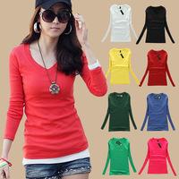 Blusas Femininas 2015 roupas tropical women blouse Plus Size Long Sleeve Blouses & Shirts  Spring New Tops Casual Blouse 032