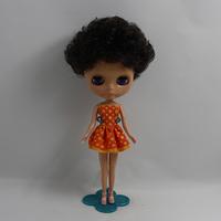 11.5 inch dolls 1/6 BJD B female Nude cute doll black skin with short hair Eden colour changing DIY doll collar female doll
