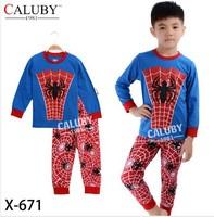 X-671 pajamas clothes sets fashion cartoon elsa anna olaf kids baby girls children pajamas clothing sets spring autumn clothes