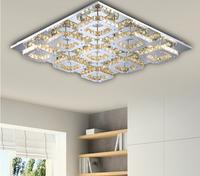modern 8 head LED K9 crystal aisle lights corridor porch lamp square ceiling lamps led ceiling light QRT-85364