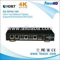 Ultra HD 4K2K 100M 1X2 HDBaseT splitter with 3D