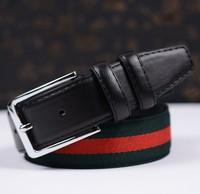 HOT Fashion Men's Genuine Leather Waist Strap Belts Gold Silver Split Cow Leather Luxury Man's Belt Designer Brand